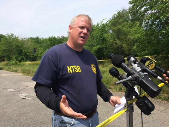 National Traffic Safety Board investigator Andrew Fox gives facts on the small plane crash that happened June 24 in Detroit.