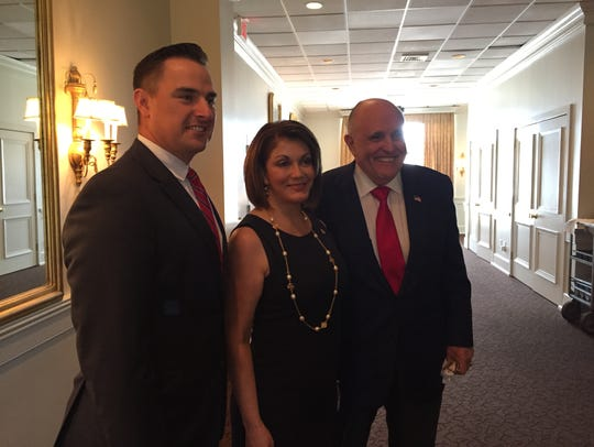 Josh Guillory, Jennifer LeBlanc and Rudy Giuliani at