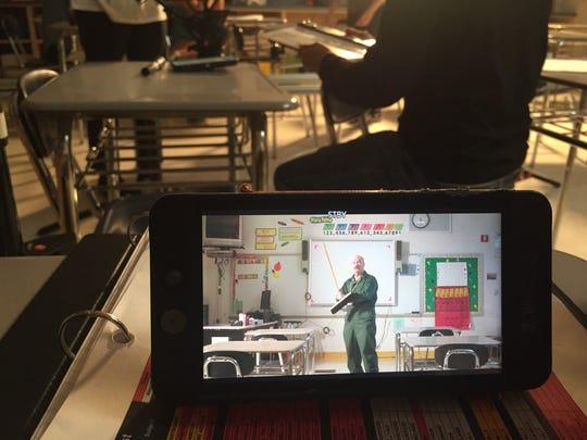"Bob Cunniff plays Mustache Janitor in ""Arthur Futuro,"" a TV tween pilot being shot in Cedar Grove's Memorial Middle School."