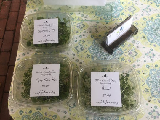 Micro greens are a popular offering from Wilson's Family