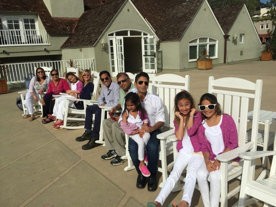 The Gupta family. Damyanti and Subhash Gupta have two