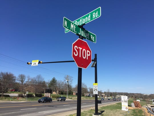 A future traffic light is coming to this intersection