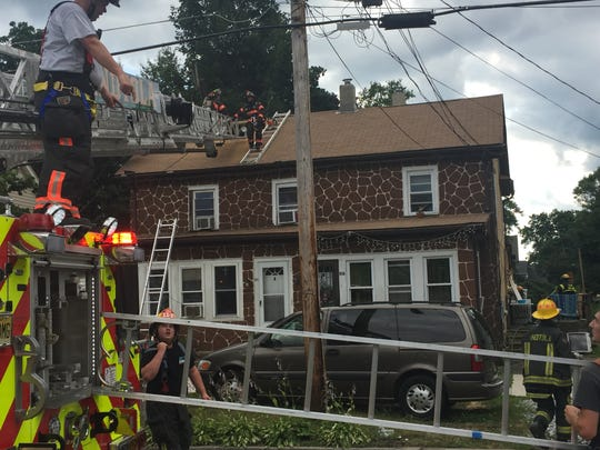 Firefighters responded to a fire in the 100 block of