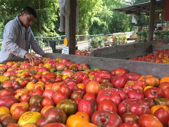 The SIW Vegetables farm stand in Chadds Ford, Pennsylvania, is well known for its large variety of heirloom tomatoes. A smaller farm stand opens July at Richardson's Floral Center in Hockessin.
