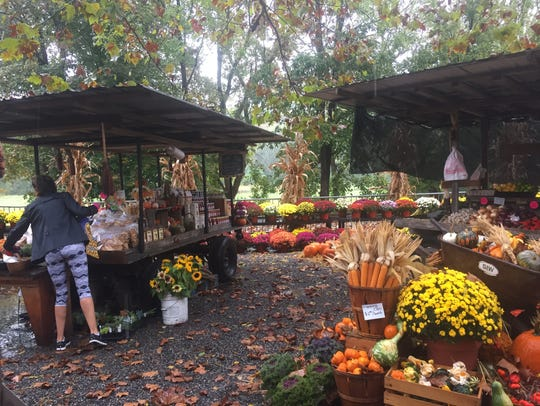 The seasonal SIW Vegetable stand in Chadds Ford, Pa.,sells