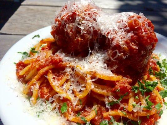Maui Pasta spaghetti and meatballs
