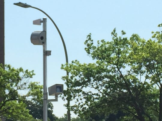 Red-light camera at Bank Street and Hamilton Avenue in White Plains