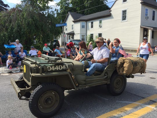 Colorful vehicles, old and new, were a major feature of the Smyrna-Clayton July 4th Parade.
