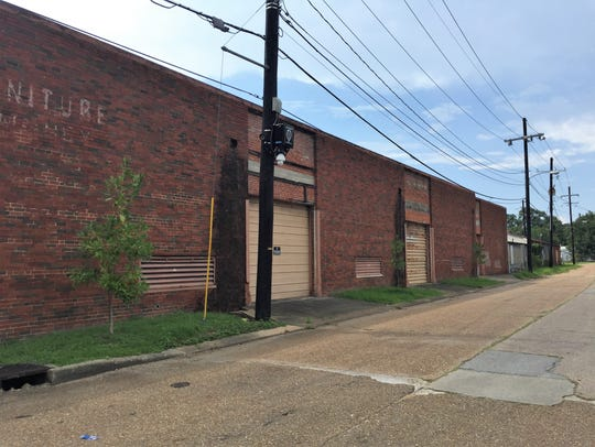 The old Coca-Cola warehouse seen from Evangeline Street,