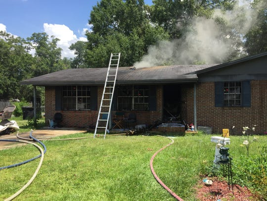 A Blue Jay Drive home was lost in a fire Thursday afternoon.