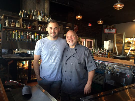 Owner/managing partner Clay England, left, and chef Rich Boggs have The Wild Boar Tavern up and running.