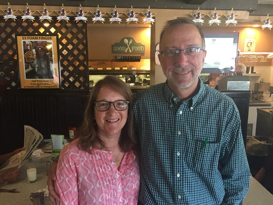 Karen and Brian Zecchinelli, owners of the Wayside