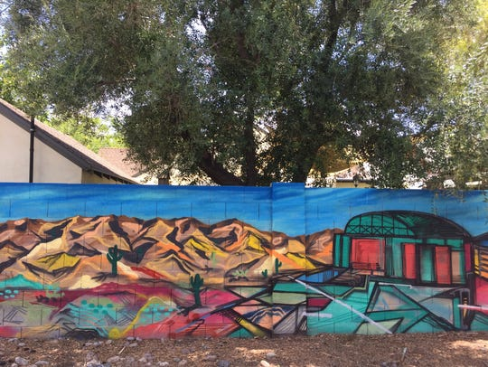 Most of the 15 murals that were painted in Phoenix's