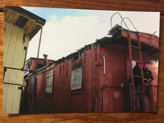 A 1888 Grand Trunk Western Railroad caboose was in disrepair at Grand Trunk Western Capitol Hill Railroad Station in Lansing's Old Town when the Howell Area Historical Society saved it and began restoration work, in 2011, according to society officials.