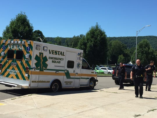 Vestal police and the Vestal Emergency Squad participate