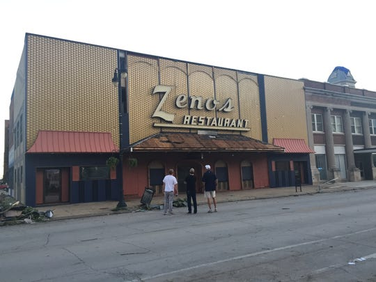Zeno's pizza, founded in 1952, survived the tornado that destroyed several other buildings in downtown Marshalltown on July 19, 2018.
