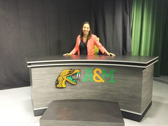 Tiffany Greene honed her skills at Florida A&M. This past spring, she returned to campus and visited the studio at the School of Journalism.