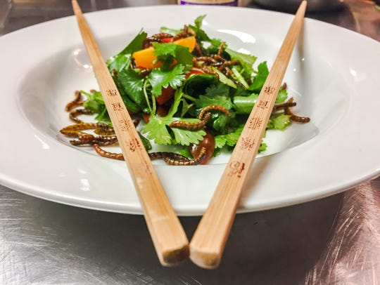 A mealworm salad from an Ent_Tune cooking class.