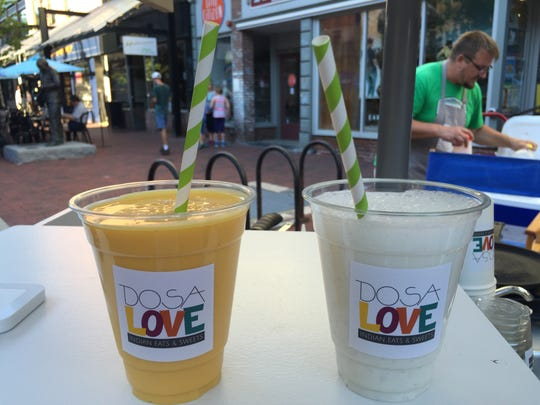 Mango and cardamom lassi at the Dosa Love food cart