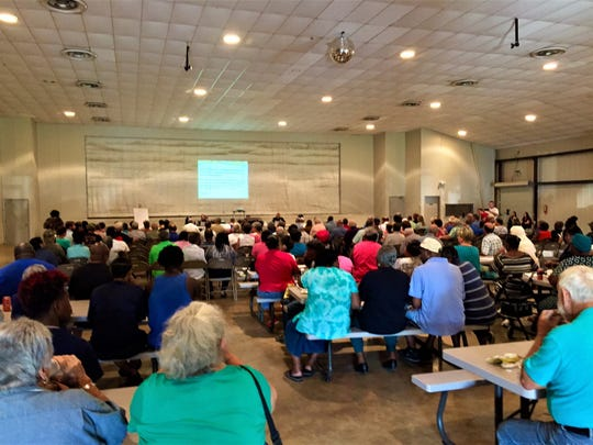 More than 200 people attended a meeting in Grant Parish Thursday concerning a request by Clean Harbors Colfax to increase its open burning of hazardous waste.