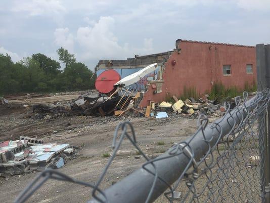 Baker Lanes demolition in Cherry Hill