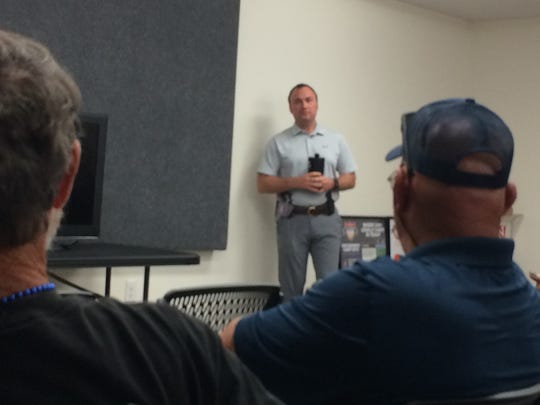 Firearms instructor Bryan Proctor gives gun owners