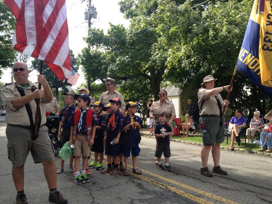 Scouts get ready to participate in the 62nd annual Mendham Labor Day Parade on Monday, September 4, 2017.