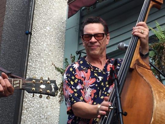 Bennington native Billy Bratcher plays stand-up bass