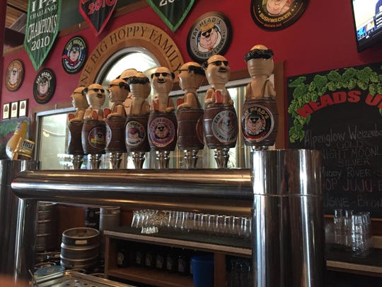 Taps at Fat Head's Brewery brewpub location outside