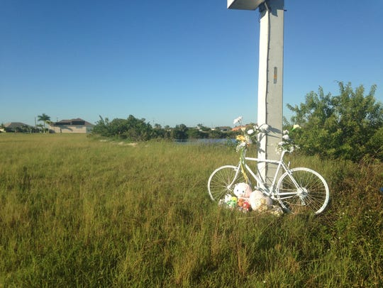 A memorial on Kismet Parkway still stands for Austin