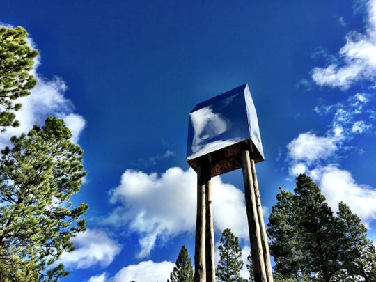 """""""This House of Sky"""" in the Blackfoot Pathways sculpture"""