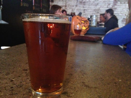 Stop 10: A pint of the Tribute Pale Ale from Indiana City Brewing.