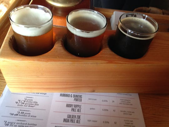 Stop 14: Samples from Thr3e Wise Men Brewery on Broad