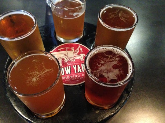 Stop 16: A flight of beers at Tow Yard Brewing Co. in Indianapolis.