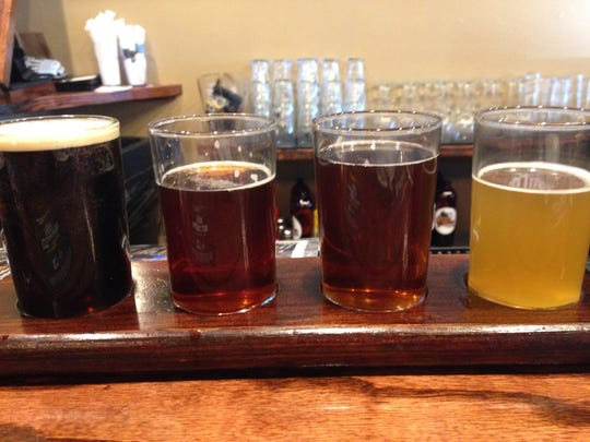 Stop 20: A flight of beers at Grand Junction Brewing in Westfield.