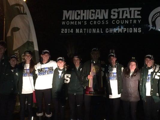 MSU women's cross country return home