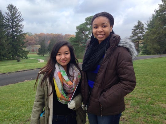 Rachel Thang, 17 (left), and Megna Manu, 16.