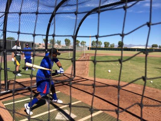 Addison Russell batting practice