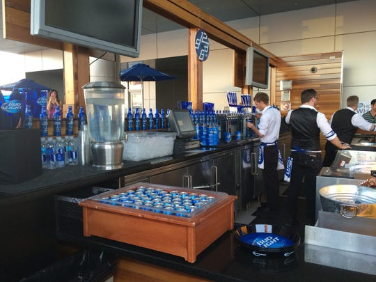 Bud Light takes over the bar at Lustre Rooftop Garden in downtown Phoenix.