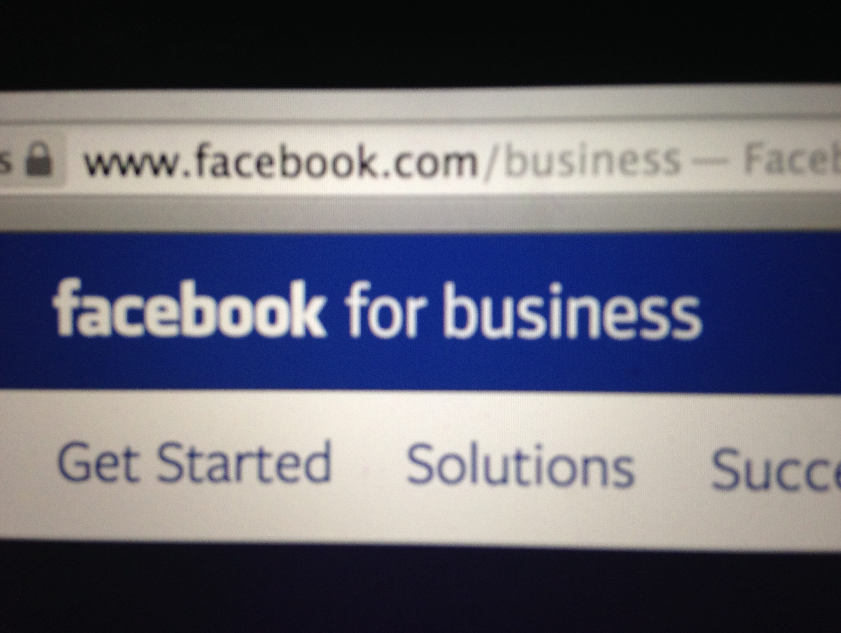 The intro page for Facebook's existing