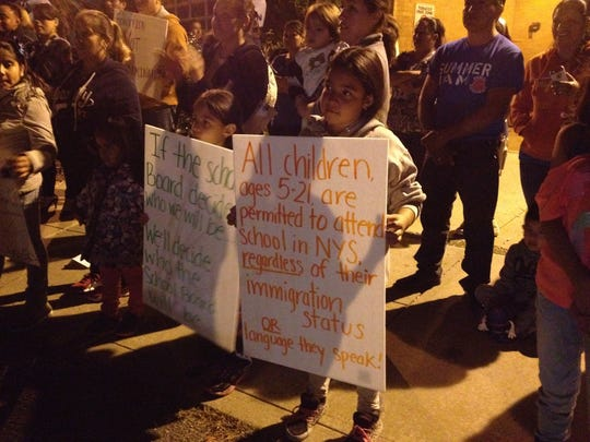 East Ramapo protesters called for an apology from Superintendent of School Joel Klein for comments he made during an August school board meeting.