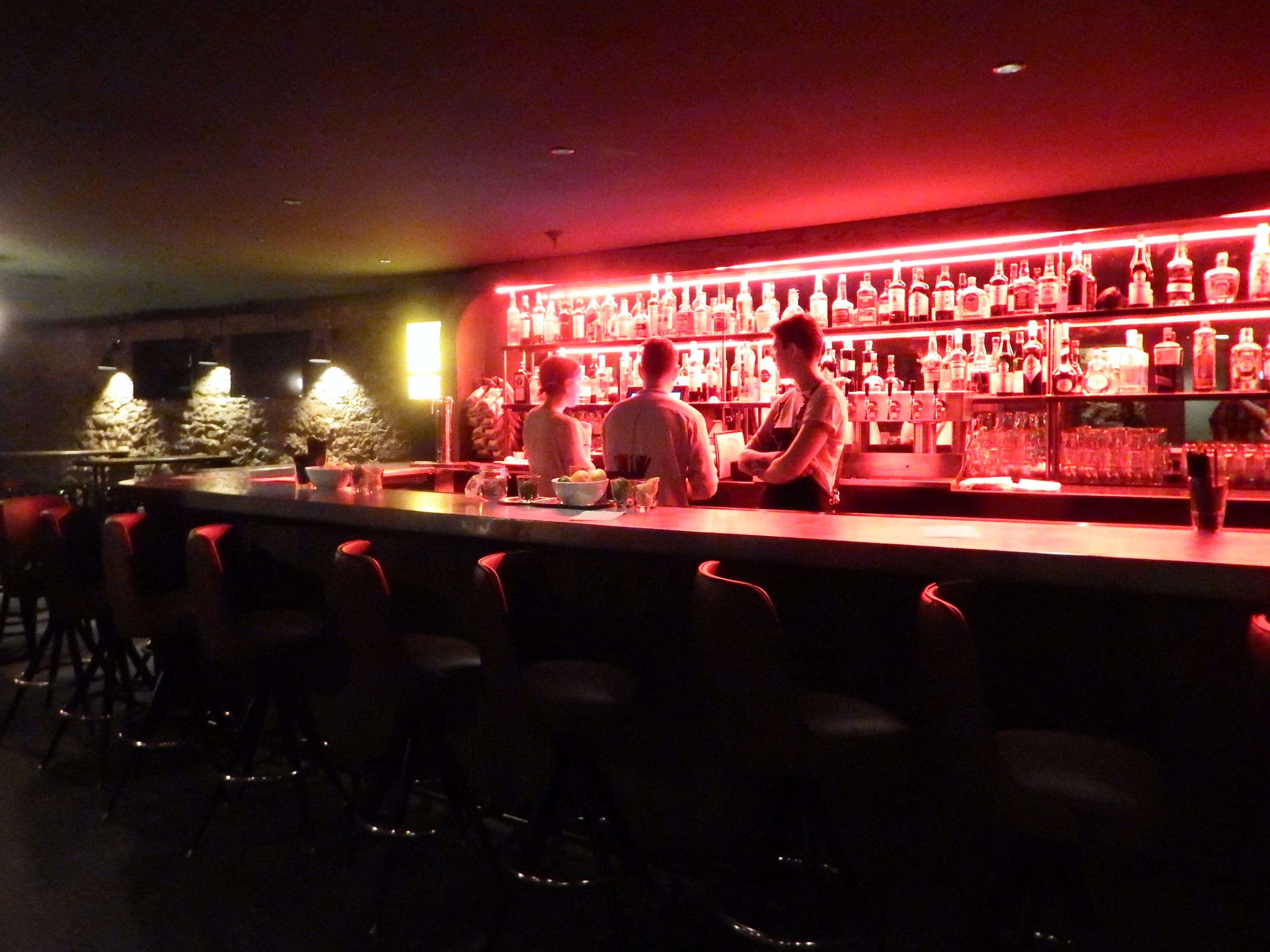 The Bar In The Basement Of St. Burch Tavern Is Shown