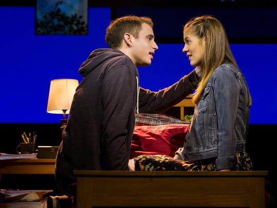 Ben Platt and Laura Dreyfuss in another scene from