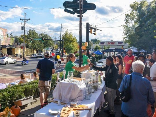 The front patio of Kelly's Logan House offered food and beer samples  during Taste of Trolley Square last year. More than 30 area shops, restaurants and bars will participate this weekend.