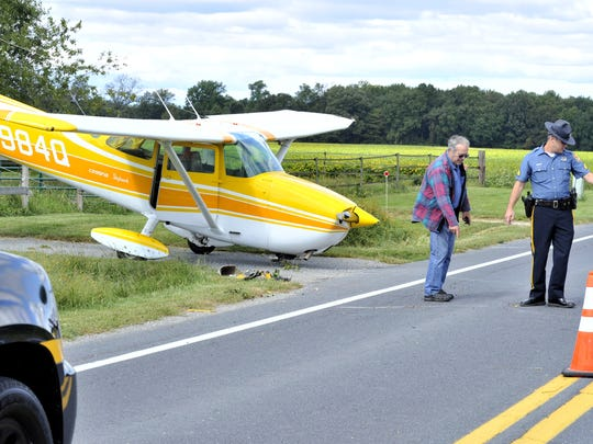 No injuries were reported when this Cessna 172 crashed while trying to land in gusty winds Saturday morning at Chandelle Estates Airport east of Dover. The aircraft ran off the runway and ended up across Del. 9 substantially damaged. The plane is registered to David W. Yarrington of Magnolia. Unknown at this time if he was the pilot. Del. 9 was closed off to traffic while state police investigated.