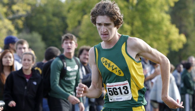 A file photo of R-H's Mickey Burke during the 2012 McQuaid Invitational.