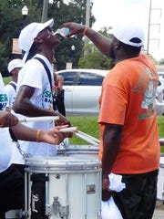 Even 95-degree heat couldn't stop these musicians and
