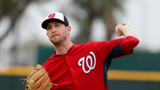 Jerry Blevins struck out Bryce Harper on three pitches in his first appearance for the Mets,.