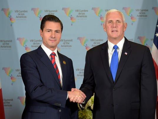 Pence no habló del pago del muro con Peña Nieto pero sí de tropas en frontera