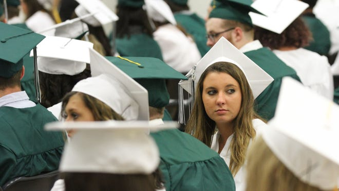 Madison Comprehensive High School held their annual commencement ceremony Friday night in the middle school gymnasium. There were over 180 graduating seniors who went across the stage to receive diplomas.